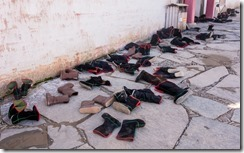 All boots to be removed