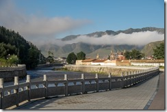 Labrang Monastery in the morning mist