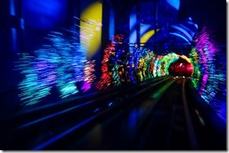 Light show in the 'Sightseeing Tunnel'