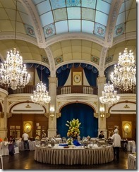 A great location for breakfast - the dining room of the Astor House Hotel