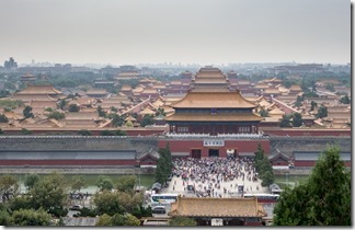 View overlooking Forbidden City