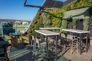 The not so majestic roof garden at the Majestic Roof Garden Hotel