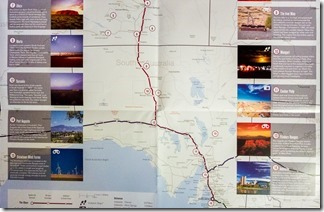 Our route from Adelaide to Alice