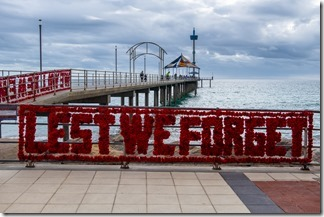 Today's message - At the pier in Brighton, SA