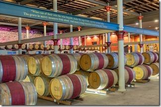 Wine casks in Chateau Tanunda