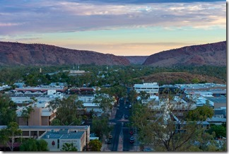 Looking back at Heavitree Gap where the train came in