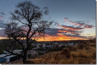 Sunset over Alice Springs