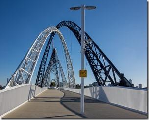 The Matagarup Bridge over the Swan River