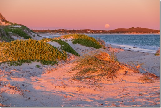 Beautiful colours at sunset / moonrise