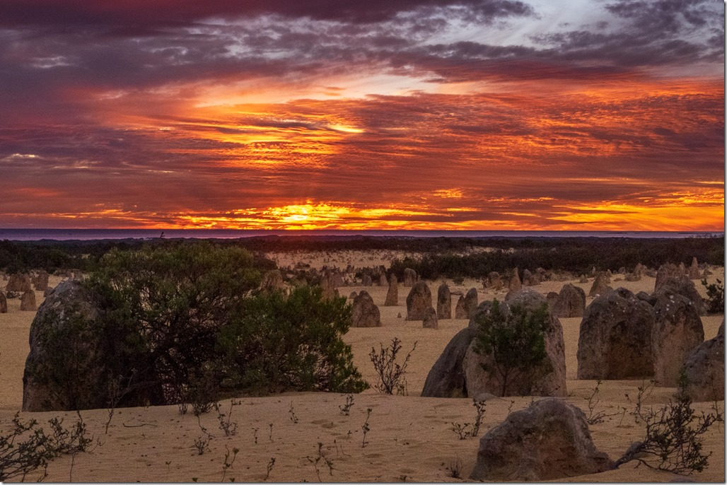 Amazing sunset over the Pinnacles