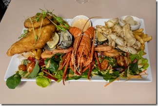 Well deserved seafood platter