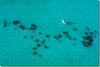Beautiful colour of the clear sea