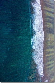 Surreal view of the coastline...