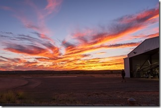 An appropriate sunset to mark the end of our time at Ningaloo