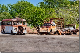Rusting vehicles at Katherine Museum