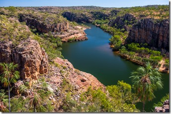 Looking down on Katherine River