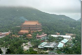 Po Lin monastery in the clouds