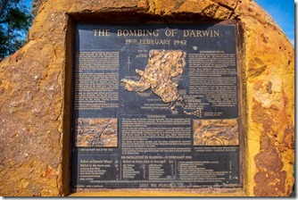 One of many boards detailing bombing of Darwin